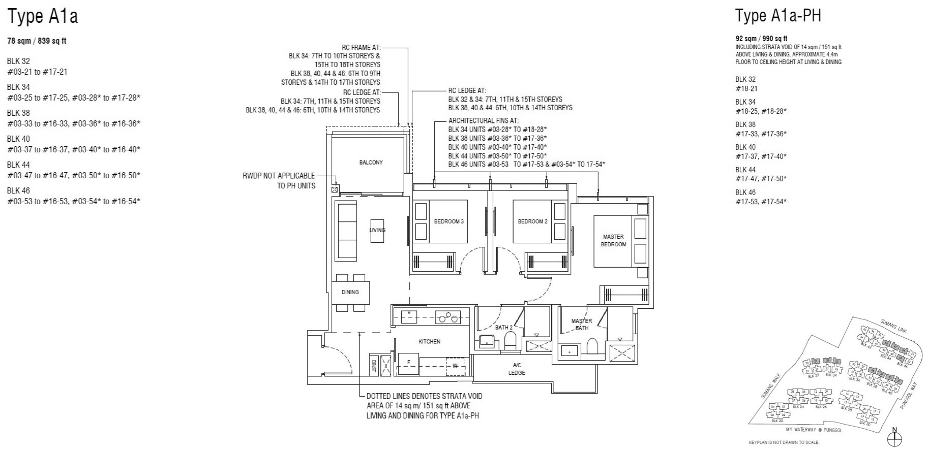 Piermont Grand EC Floor Plan 3 Bedroom